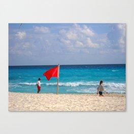 Cancun Surf - M Canvas Print