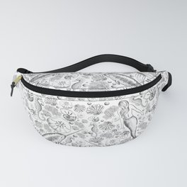 Mermaid Toile - Black and white Fanny Pack