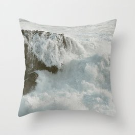 Crashing Waves on Sonoma Coast Throw Pillow