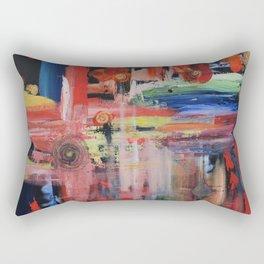Abstract Orange Blue Rectangular Pillow