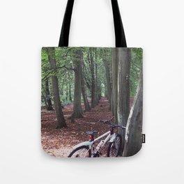 Bike in the woodland Tote Bag
