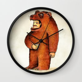 Oso pico tibio Wall Clock