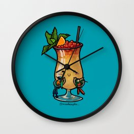 Food Series - Trinidad Cobbler (blue) Wall Clock