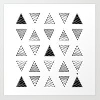 triangle Art Prints featuring Triangle by Emmanuelle Ly