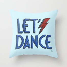 Let´s Dance light blue Throw Pillow