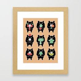 Vegi Bears Framed Art Print