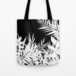 The leaves and berries. Black and white pattern . Tote Bag