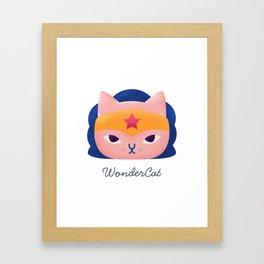 Wonder cat Framed Art Print
