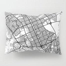 Riyadh Map Gray Pillow Sham