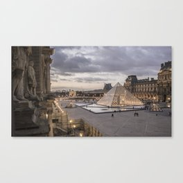 Sunset at the Louvre, Paris Canvas Print