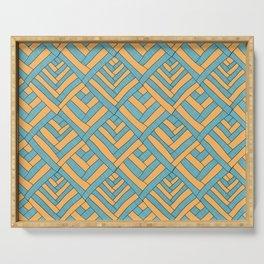 Geometric pattern Modern Serving Tray