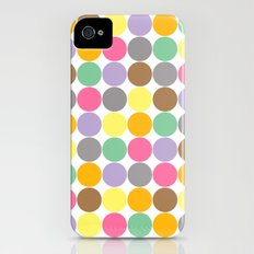 Candy Rounds White (Coal available too) Slim Case iPhone (4, 4s)