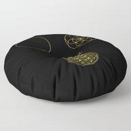 Sacred Geometry The World Floor Pillow