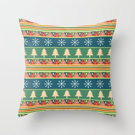 Christmas pattern II Throw Pillow