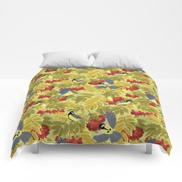Tits on a mountain ash Comforters