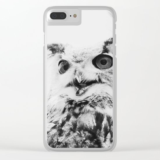 Scandinavian owl Clear iPhone Case
