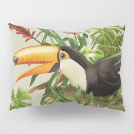Toco Toucan vintage illustration. Pillow Sham