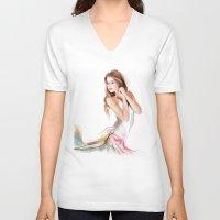 fairy V-neck T-shirts featuring fairy by tatiana-teni