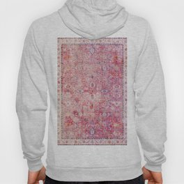 N45 - Pink Vintage Traditional Moroccan Boho & Farmhouse Style Artwork. Hoody