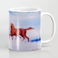 horses Mugs featuring horses by shannon's art space