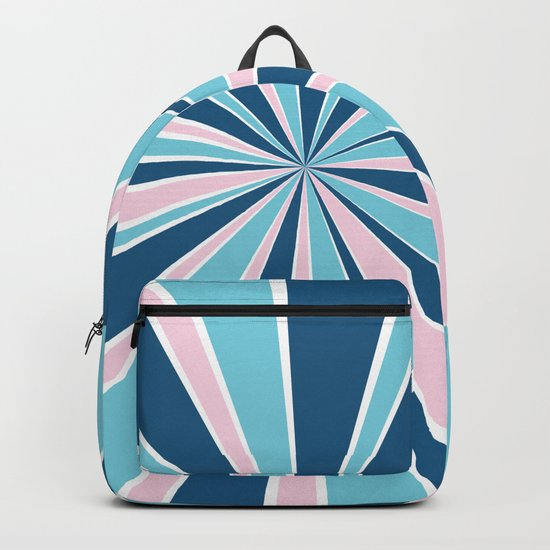 Starburst Pink and Blue Backpack