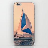 racing iPhone & iPod Skins featuring  Yacht racing by Svetlana Korneliuk