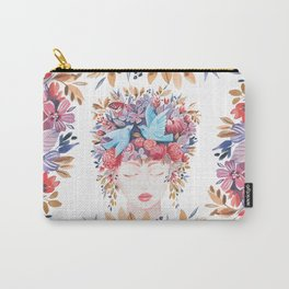 Meditating Lady Watercolor Carry-All Pouch