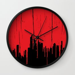 Paint it Red Wall Clock