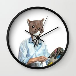 Happy Squirrel Wall Clock
