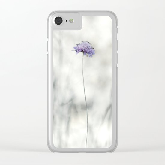 Tiny big world Clear iPhone Case