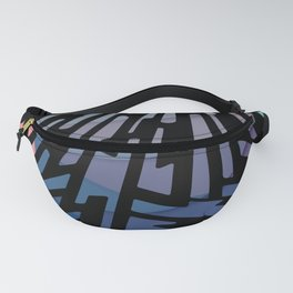 Faded Pattern Fanny Pack
