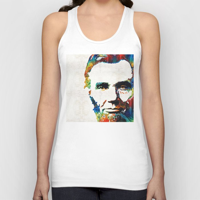 04858ec6326d98 Abraham Lincoln Art - Colorful Abe - By Sharon Cummings Unisex Tank ...