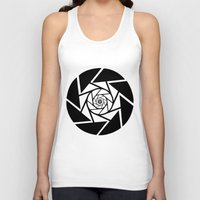 vector Tank Tops featuring Aperture Vector by Alli Vanes