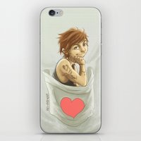 pocket iPhone & iPod Skins featuring Pocket Louis by Aki-anyway