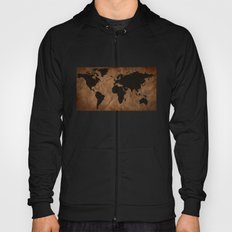 Old Wrinkled World Map Hoody