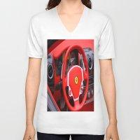 ferrari V-neck T-shirts featuring Ferrari Fizz by Scattered_Stars