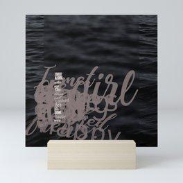 Words ~ Lyrics ~ I met a Girl Mini Art Print