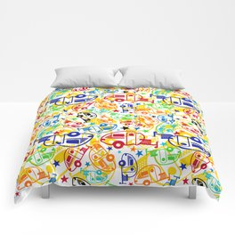 Candy Colored T@Bs Comforters