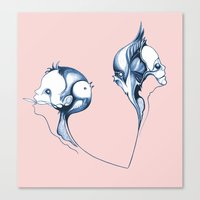 fig Canvas Prints featuring fig by schleuf