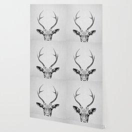 Deer - Black & White Wallpaper