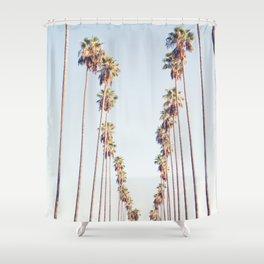 Palm tree stripes Shower Curtain