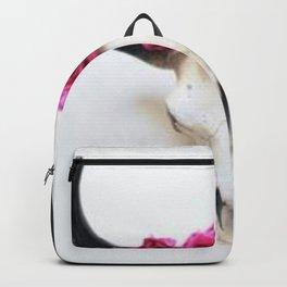 Floral Bull Skull Backpack