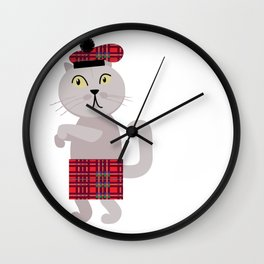 Scottish fold cat William Wall Clock