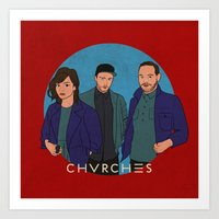 chvrches Art Prints featuring CHVRCHES by Sharin Yofitasari