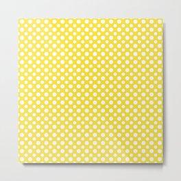 Buttercup yellow spots Metal Print