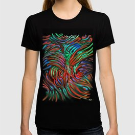 Abstract #3 Red Green T-shirt