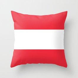 flag of austria -,Österreich,Austrian,Österreicher,Vienna,Salzburg,Mozart, Schoenberg Throw Pillow