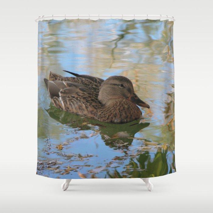 Mallard Duck Shower Curtain By Annemillbrooke