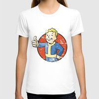 fallout T-shirts featuring Fallout Vault boy by Krakenspirit