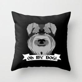Oh My Dog Throw Pillow
